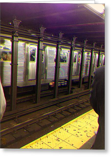 Li Van Saathoff Greeting Cards - NY Underground Feel Greeting Card by Li   van Saathoff