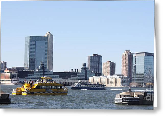 Barges Greeting Cards Greeting Cards - NY Waterways Greeting Card by John Telfer