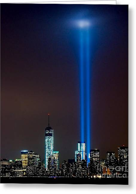 Wtc 11 Greeting Cards - NYC 9/11 Tribute Greeting Card by Nick Zelinsky