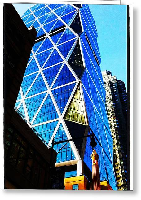 Ruse Greeting Cards - NYC architecture Greeting Card by Robert Knowles