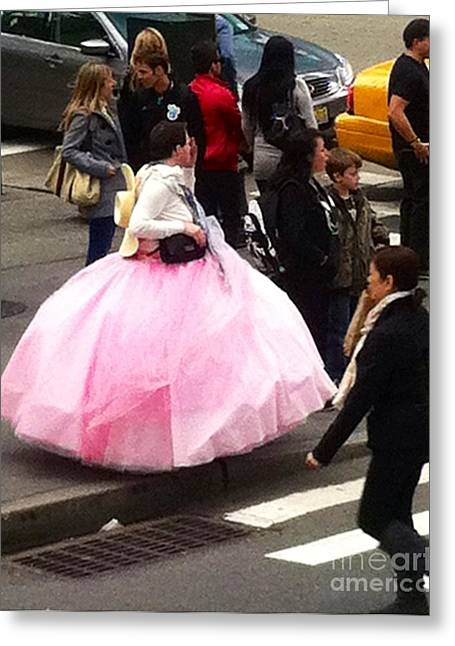 Ball Gown Greeting Cards - NYC Ball Gown Walk Greeting Card by Susan Garren