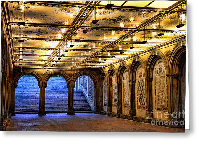 Nyc Bethesda Terrace Greeting Card by Paul Ward