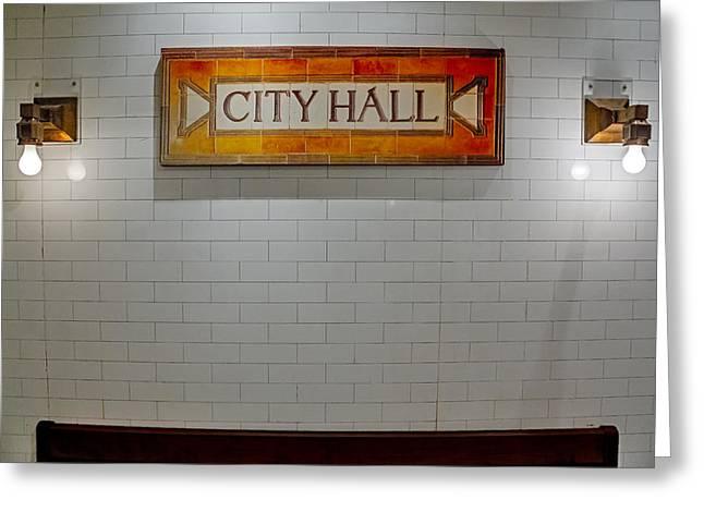 Tools Greeting Cards - NYC City Hall Subway Station Greeting Card by Susan Candelario