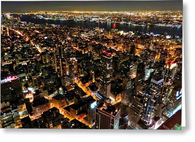 Nyc - From The Empire State Bldg. 002 Greeting Card by Lance Vaughn