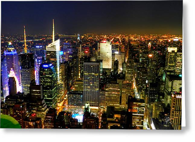 Gotham City Greeting Cards - NYC - From the Empire State Building 001 Greeting Card by Lance Vaughn