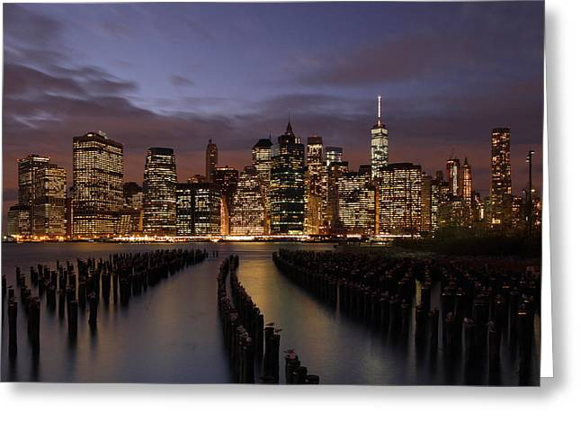 Gotham City Greeting Cards - Nyc Greeting Card by Juergen Roth