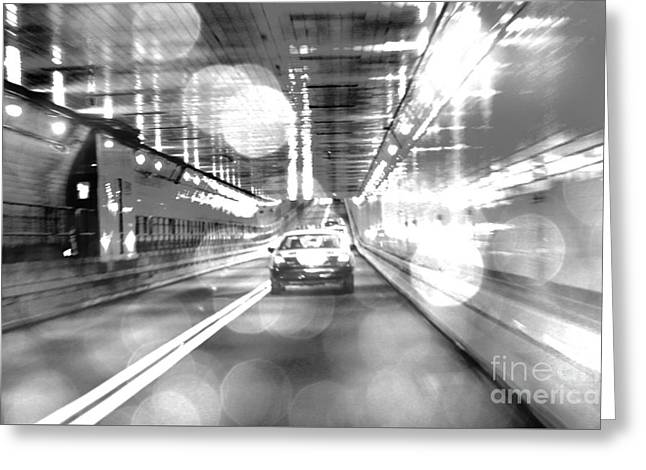Newyorkcity Greeting Cards - NYC Lights and Movements Greeting Card by Anahi DeCanio - ArtyZen Studios