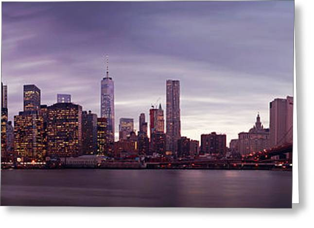 Destiny Photographs Greeting Cards - NYC Panorama Greeting Card by Nina Papiorek