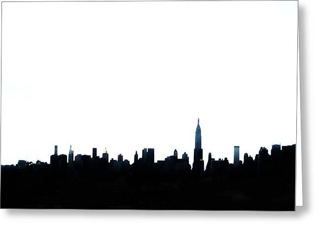 Times Square Digital Art Greeting Cards - NYC Silhouette Greeting Card by Natasha Marco