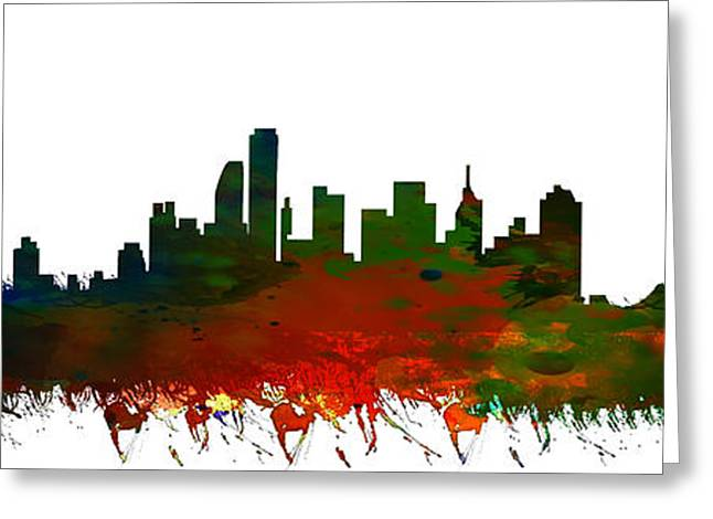 Midtown Paintings Greeting Cards - NYC Skyline Greeting Card by Celestial Images
