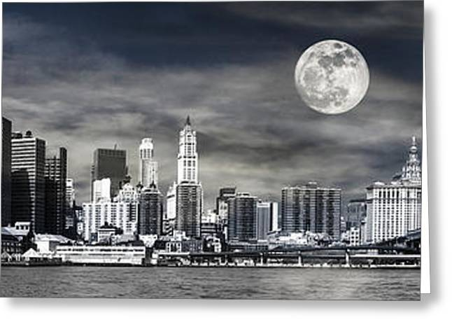 Bay Bridge Greeting Cards - NYC Skyline Greeting Card by Melissa Smith
