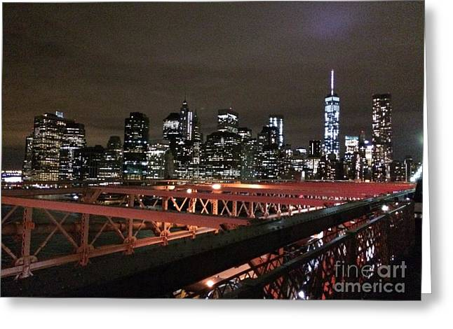 Amazing Sunset Greeting Cards - NYC Skyline  Greeting Card by Parker O