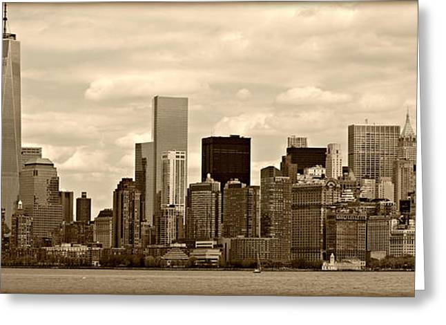 Midtown Greeting Cards - NYC Skyline Greeting Card by Stephen Stookey