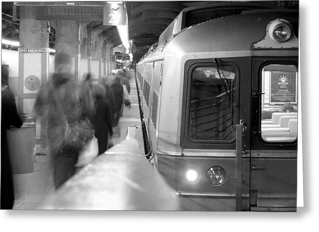 Central Greeting Cards - Metro North/CT DOT Commuter Train Greeting Card by Mike McGlothlen