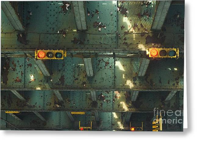 Chipping Paint Greeting Cards - NYC Subway Patina Greeting Card by ArtyZen Studios