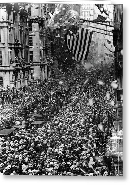 Nyc Ticker Tape Parade Greeting Card by Granger
