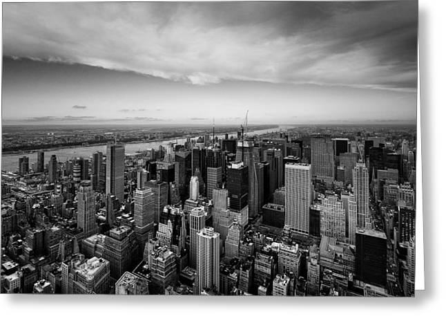 Nyc Uptown Greeting Card by Nina Papiorek