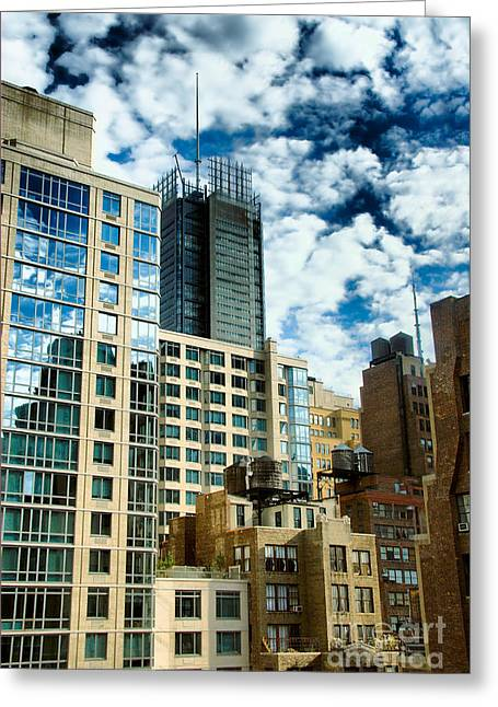 Apartments Greeting Cards - NYC Urban HDR Greeting Card by Amy Cicconi