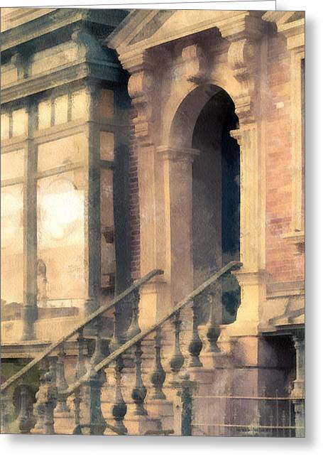 Nyc Scenes Greeting Cards - NYC Walkup Phone Case Aspect Greeting Card by Edward Fielding