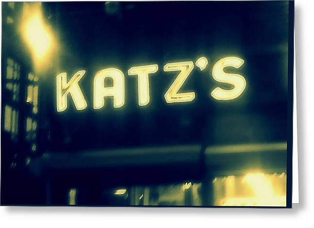 Nyc's Famous Katz's Deli Greeting Card by Paulo Guimaraes