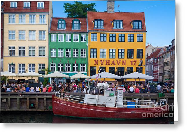Port Town Greeting Cards - Nyhavn 17 Greeting Card by Inge Johnsson