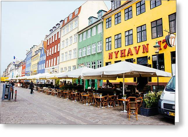 Nyhavn Promenade Greeting Card by Pati Photography