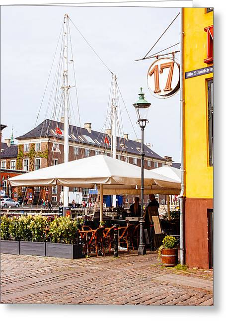 Nyhavn Restaurant Greeting Card by Pati Photography
