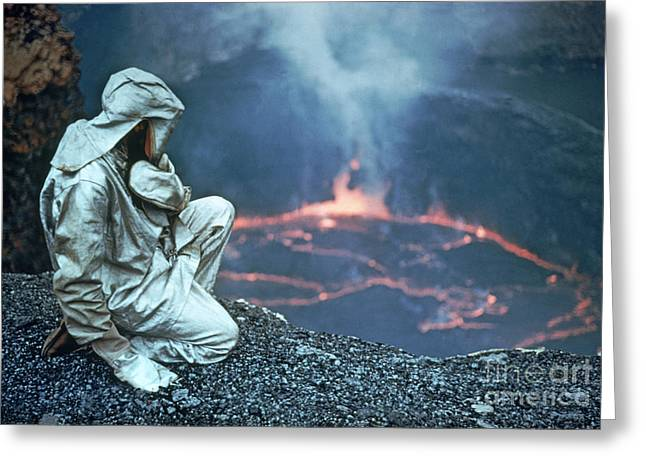 Hazmat Greeting Cards - Nyiragongo Volcano Greeting Card by Explorer