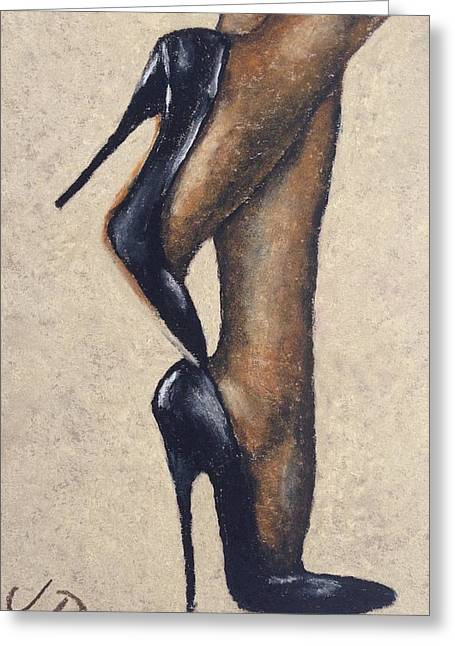 High Heeled Pastels Greeting Cards - Nylons and Heels Greeting Card by James Patrick