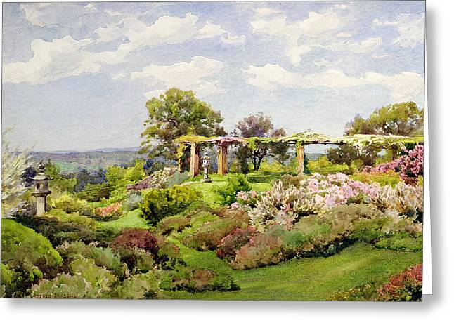 Garden Drawings Greeting Cards - Nymans Sussex Greeting Card by Alfred Parsons