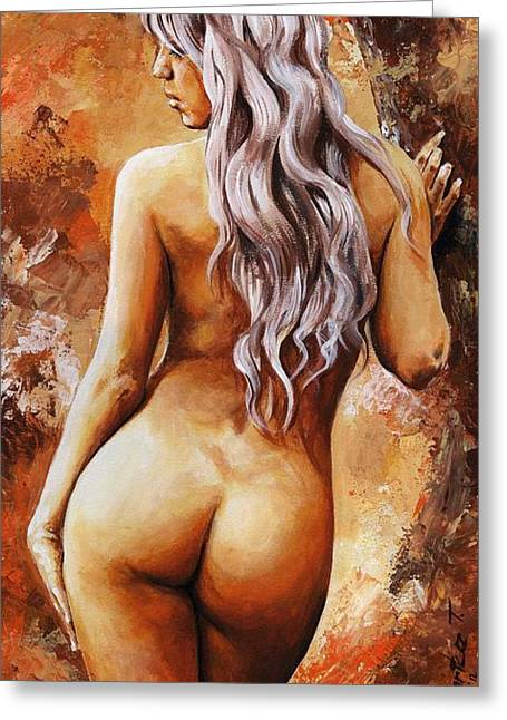 Recently Sold -  - Female Body Greeting Cards - Nymph 02 Greeting Card by Emerico Imre Toth