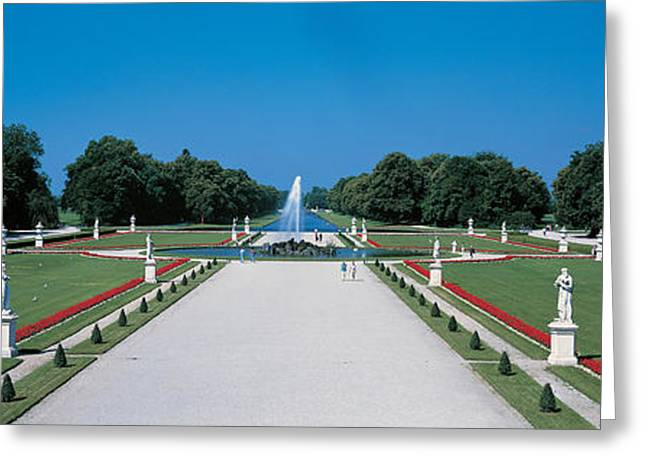 Munich Greeting Cards - Nymphenburg Castle Munich Germany Greeting Card by Panoramic Images
