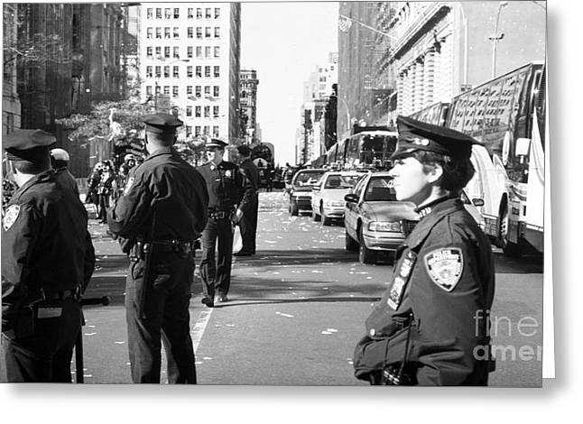 Nypd 1990s Greeting Card by John Rizzuto