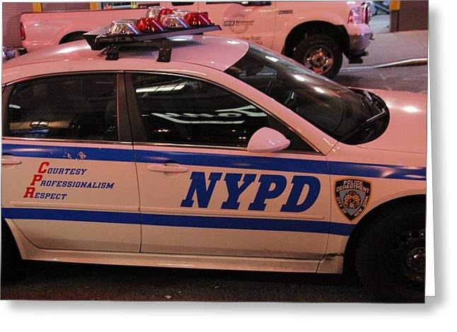 Police Department Greeting Cards - Nypd Greeting Card by Dan Sproul