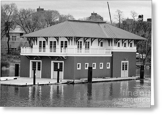 Nyrp Peter Jay Sharp Boathouse At Swindler Cove Park On The Harlem River New York City Greeting Card by Joe Fox