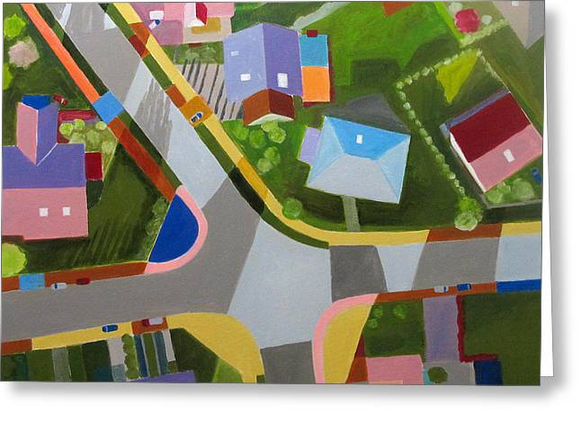 Development Greeting Cards - Nysa City Suburb II Greeting Card by Toni Silber-Delerive