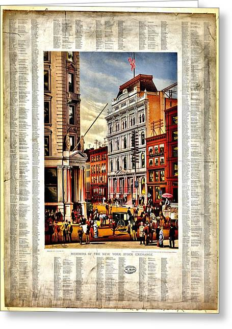 Wall Street Greeting Cards - Nyse 1882 Greeting Card by Benjamin Yeager