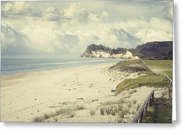 Beach Photos Greeting Cards - NZ coastline Greeting Card by Les Cunliffe