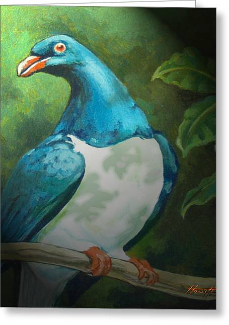 Aotearoa Greeting Cards - NZ Native Pigeon Kereru Greeting Card by Patricia Howitt