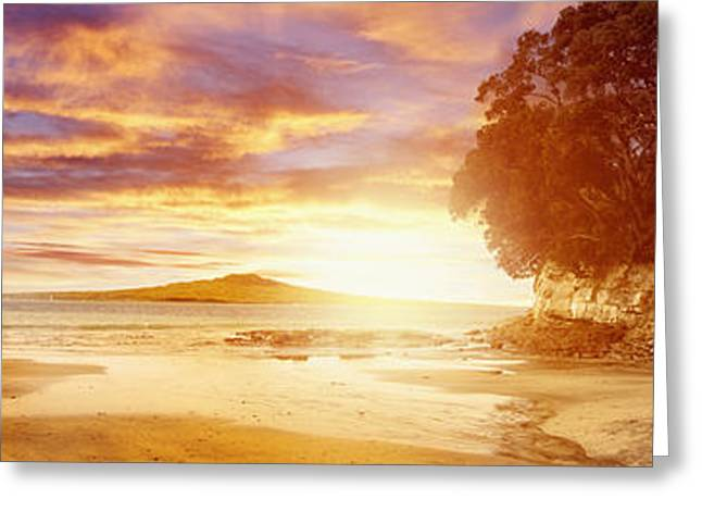 Peaceful Scenery Greeting Cards - NZ sunlight Greeting Card by Les Cunliffe