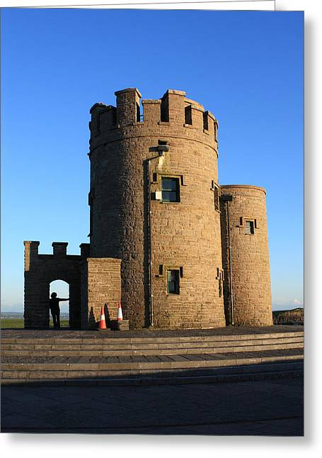 Most Visited Greeting Cards - O Briens Tower At The Cliffs Greeting Card by Aidan Moran