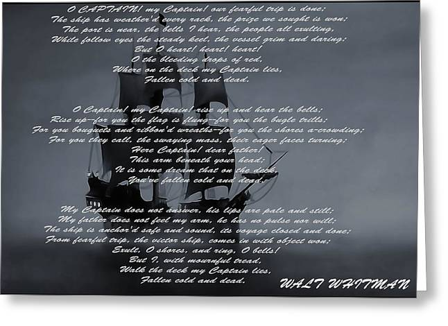 Sailer Greeting Cards - O Captain My Captain Greeting Card by Dan Sproul