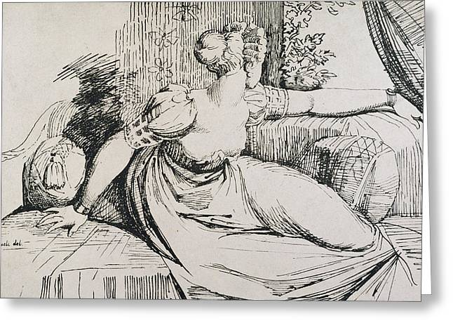 Daybed Greeting Cards - O Evening thou Bringest All Greeting Card by Henry Fuseli