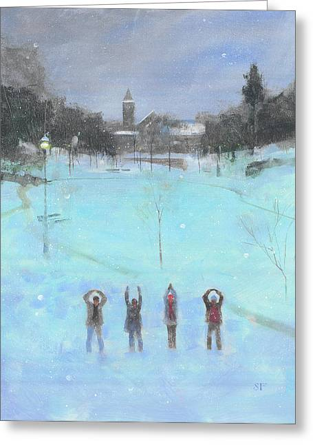 Ohio State University Greeting Cards - O-h-i-o Greeting Card by Stan Fellows