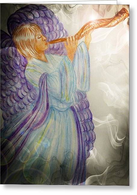 Night Angel Greeting Cards - O Holy Night Greeting Card by Music of the Heart