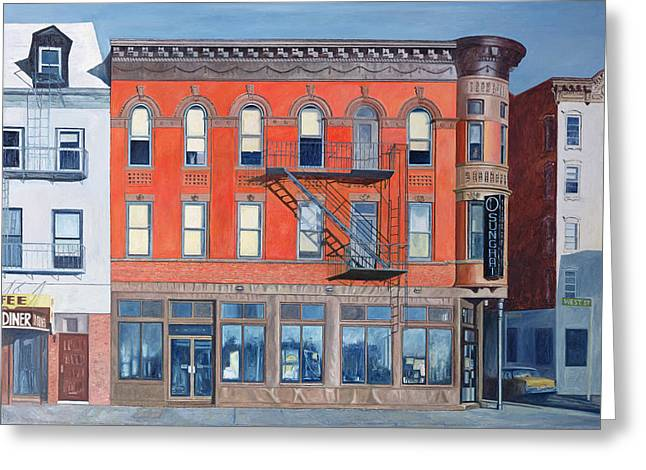 Shopfronts Greeting Cards - O Sunghai Restaurant West Village Greeting Card by Anthony Butera