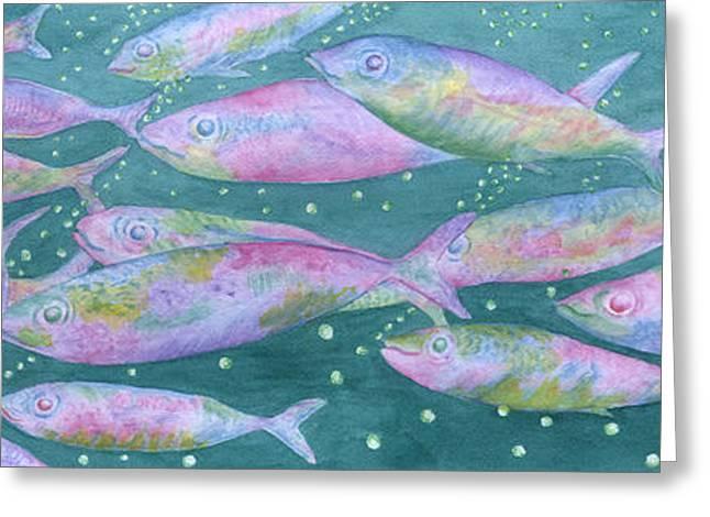 Aquarium Fish Greeting Cards - Oahu Tiny Bubbles Greeting Card by Rhonda Leonard