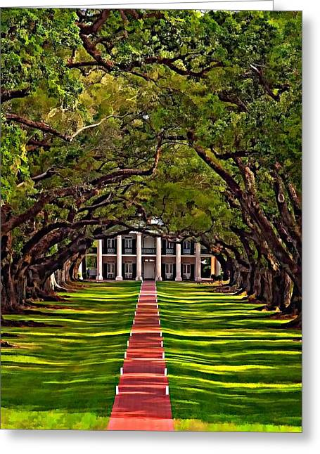 Slaves Greeting Cards - Oak Alley II Greeting Card by Steve Harrington