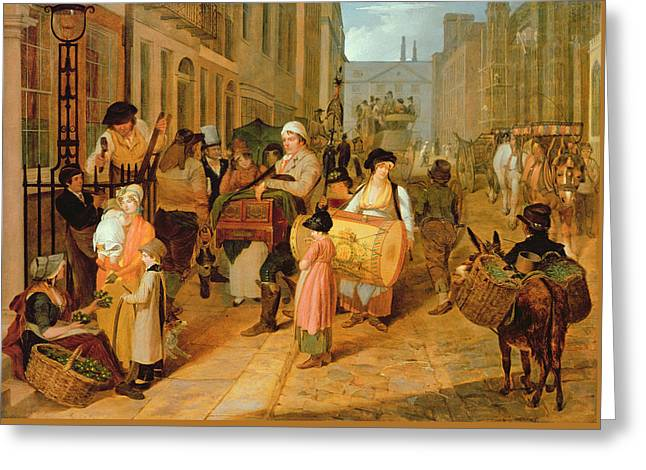 Oak Apple Day, 1812 Greeting Card by Charles Cranmer