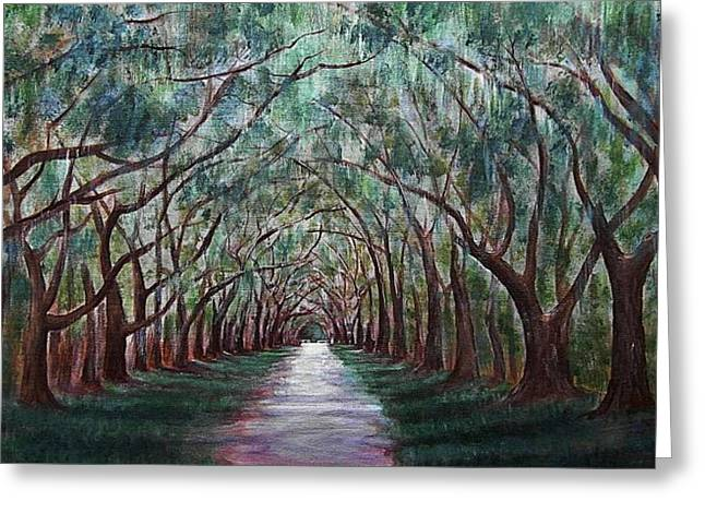 Interior Scene Greeting Cards - Oak Avenue Greeting Card by Anastasiya Malakhova